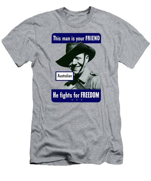 Australian This Man Is Your Friend  Men's T-Shirt (Athletic Fit)