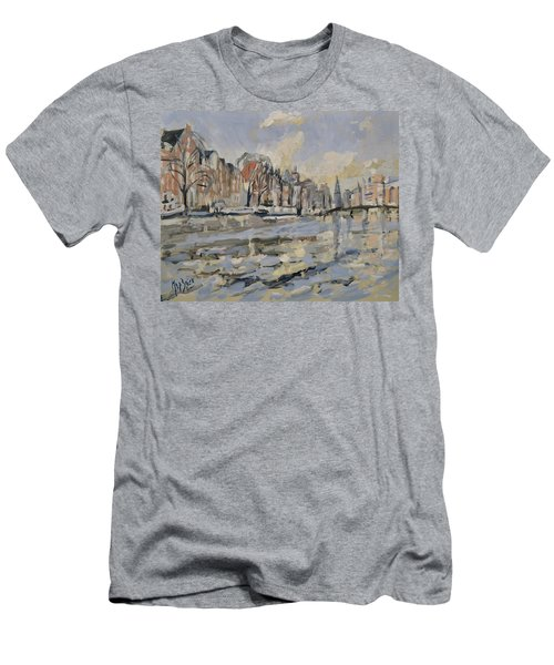 Autumn Along The Amstel In Amsterdam Men's T-Shirt (Athletic Fit)