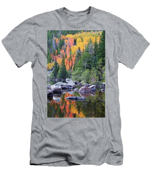 Autumn At Bear Lake Men's T-Shirt (Slim Fit) by David Chandler