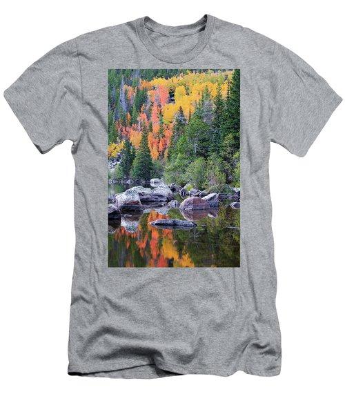 Autumn At Bear Lake Men's T-Shirt (Slim Fit)