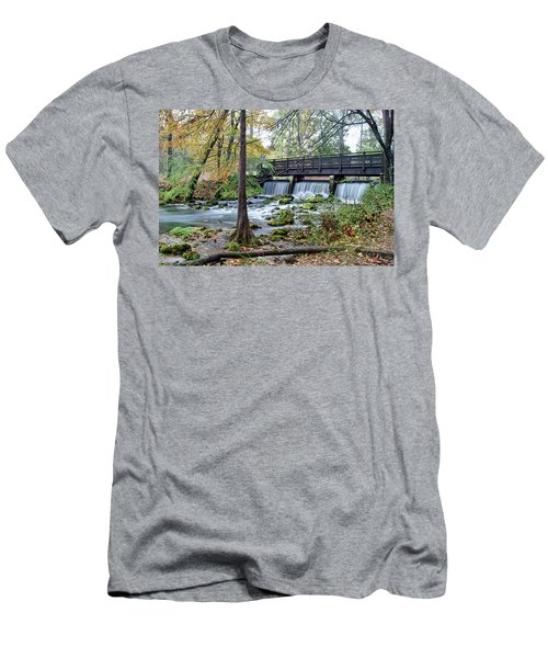 Men's T-Shirt (Slim Fit) featuring the photograph Autumn At Maramec Spring by Cricket Hackmann