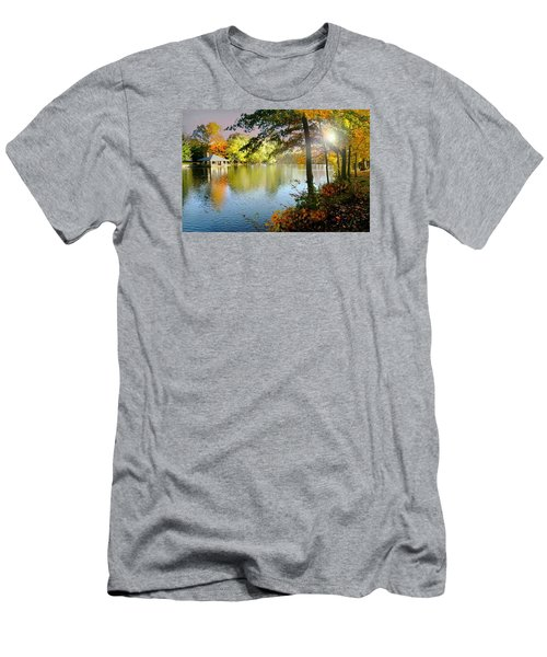 Autumn At Tilley Pond Men's T-Shirt (Slim Fit) by Diana Angstadt