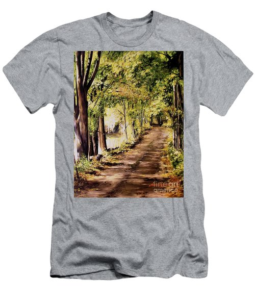Autumn Begins In Underhill Men's T-Shirt (Slim Fit) by Laurie Rohner