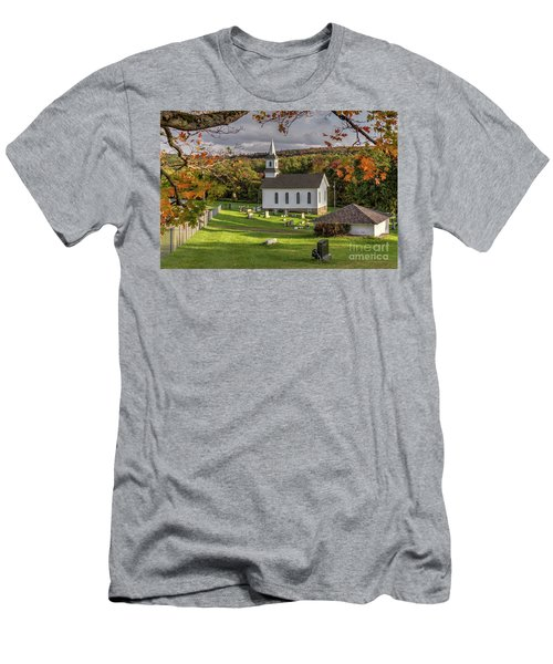 Autumn Church Men's T-Shirt (Athletic Fit)