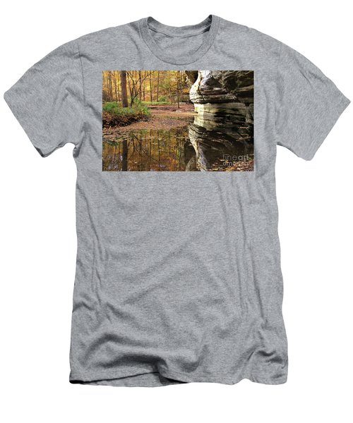 Autumn Comes To Illinois Canyon  Men's T-Shirt (Athletic Fit)