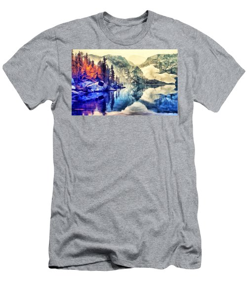 Autumn Day On The Lake. Men's T-Shirt (Athletic Fit)