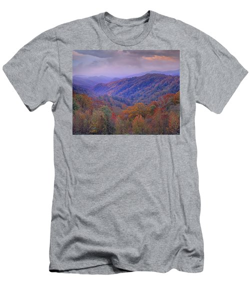 Men's T-Shirt (Athletic Fit) featuring the photograph Autumn Deciduous Forest Great Smoky by Tim Fitzharris