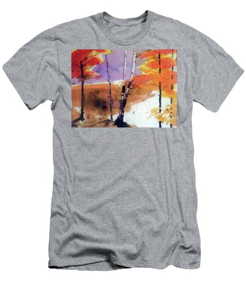 Men's T-Shirt (Slim Fit) featuring the painting Autumn by Ed Heaton