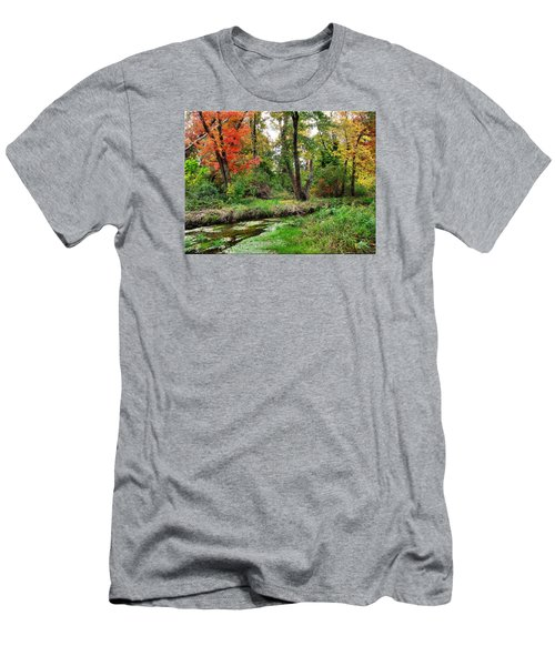 Autumn In Bloom Men's T-Shirt (Athletic Fit)