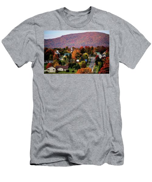 Autumn In Danville Vermont Men's T-Shirt (Slim Fit) by Sherman Perry