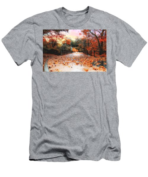 Autumn In Discovery Lake Men's T-Shirt (Athletic Fit)