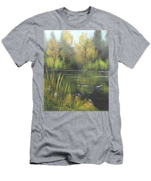 Autumn In The Park Men's T-Shirt (Slim Fit) by Angela Stout