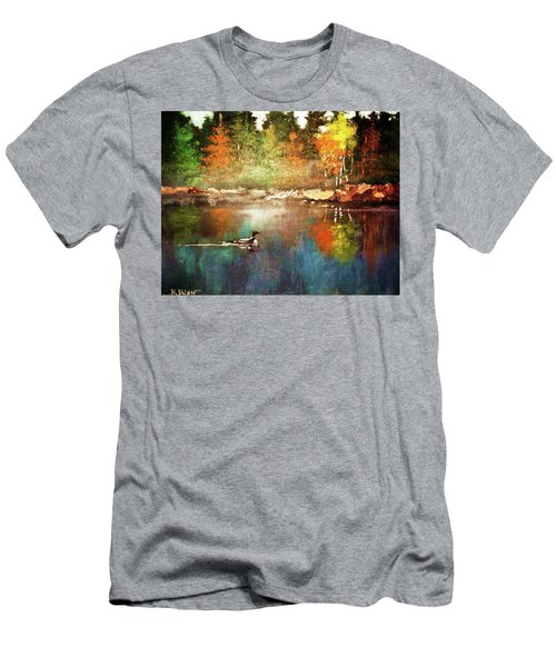 Autumn Lake Reflections Men's T-Shirt (Athletic Fit)