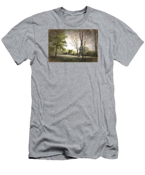 Autumn Landscape Men's T-Shirt (Slim Fit) by Rena Trepanier