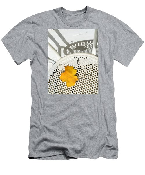 Men's T-Shirt (Slim Fit) featuring the photograph Autumn Leaf And Shadows by Gary Slawsky