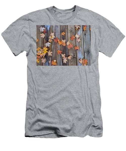 Autumn Leaves Fall Men's T-Shirt (Athletic Fit)