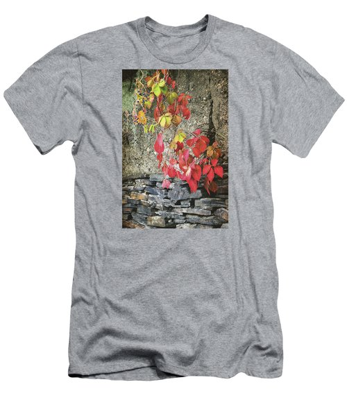 Men's T-Shirt (Slim Fit) featuring the photograph Autumn Leaves by Tom Singleton