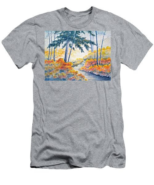 Men's T-Shirt (Slim Fit) featuring the painting Autumn Mist by Carolyn Rosenberger
