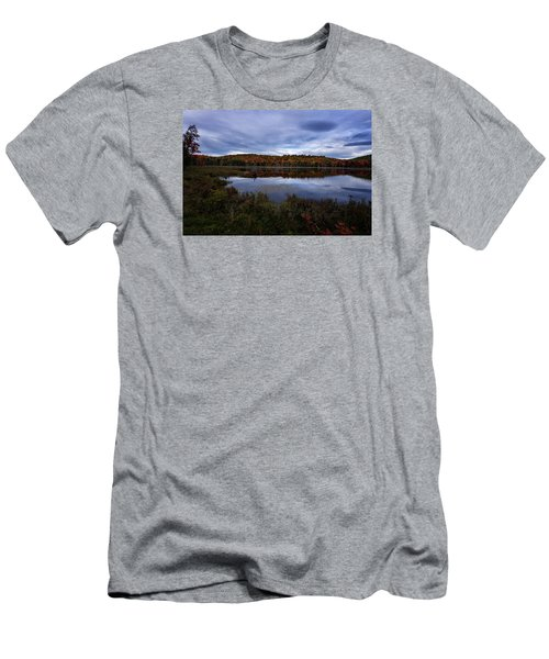 Autumn On North Pond Road Men's T-Shirt (Slim Fit) by Tom Singleton