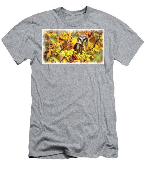 Autumn Owl Men's T-Shirt (Athletic Fit)