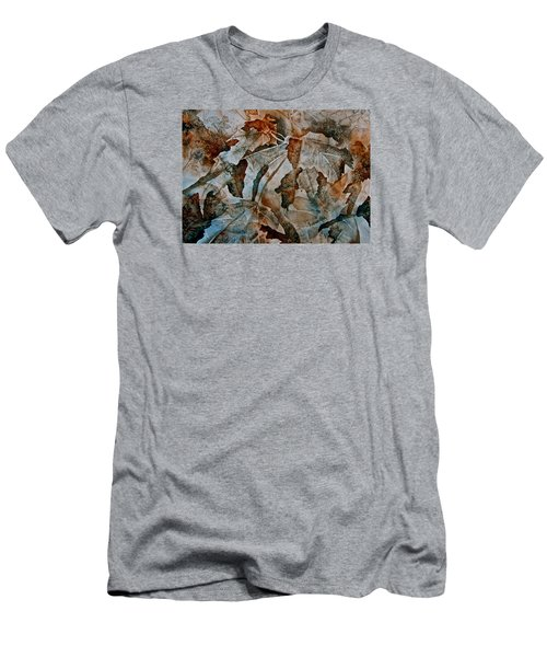 Men's T-Shirt (Slim Fit) featuring the painting Autumn Patterns by Carolyn Rosenberger