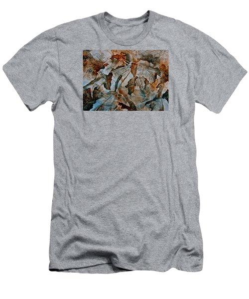 Autumn Patterns Men's T-Shirt (Slim Fit) by Carolyn Rosenberger