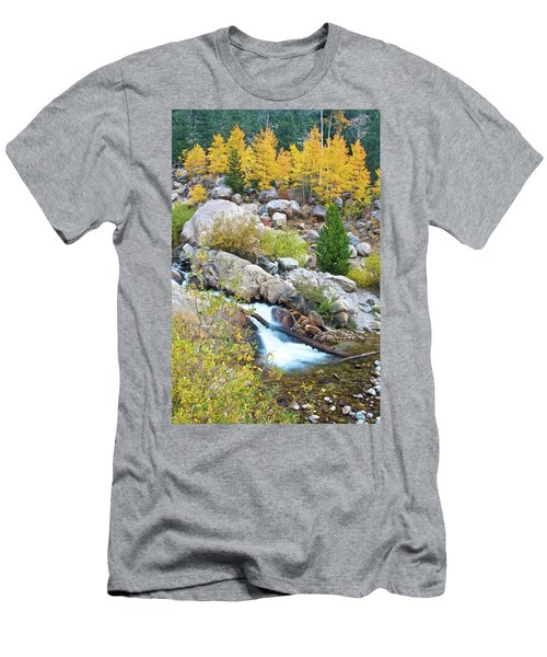 Men's T-Shirt (Athletic Fit) featuring the photograph Autumn Peace by Gary Lengyel