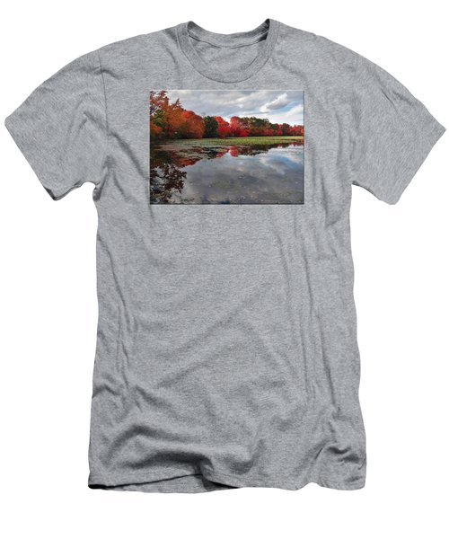 Autumn Reflections Men's T-Shirt (Slim Fit) by Mikki Cucuzzo