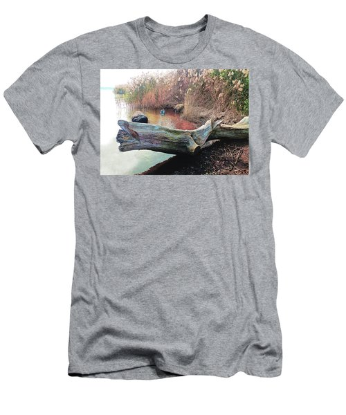 Men's T-Shirt (Athletic Fit) featuring the photograph Autumn Riverside by Roger Bester