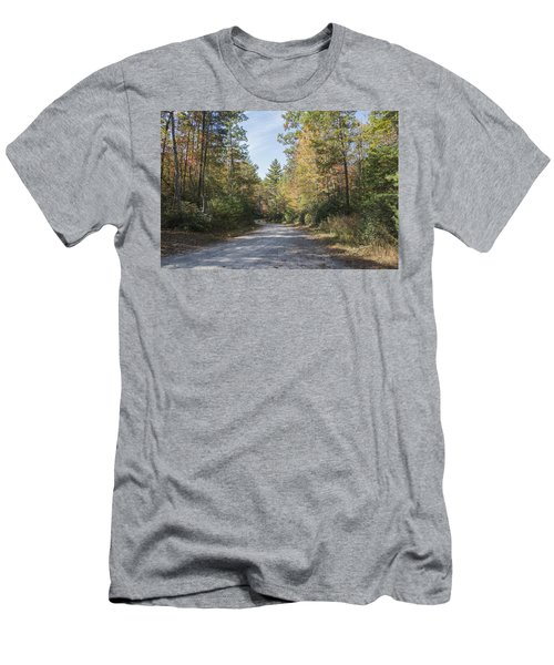 Autumn Road Men's T-Shirt (Slim Fit) by Ricky Dean