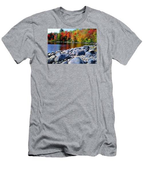 Autumn Shoreline Men's T-Shirt (Athletic Fit)