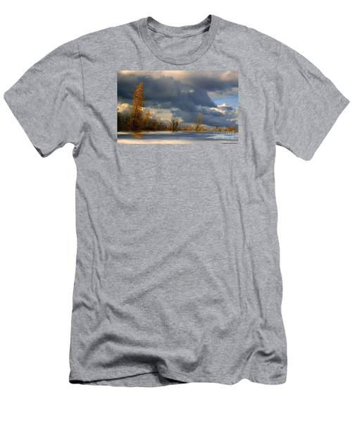 Men's T-Shirt (Slim Fit) featuring the photograph Autumn Skies  by Elfriede Fulda
