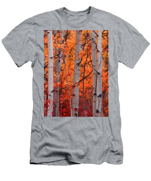 Men's T-Shirt (Slim Fit) featuring the photograph Autumn Splendor by Don Schwartz