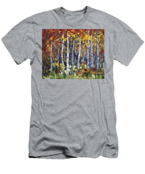 Autumn Trees Men's T-Shirt (Slim Fit) by Jennifer Beaudet
