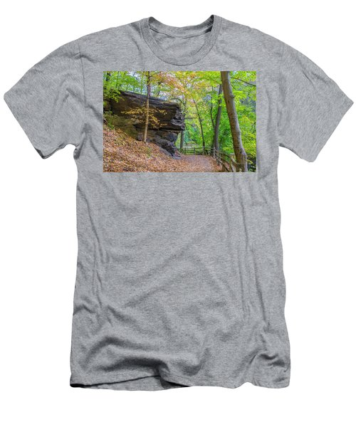 Men's T-Shirt (Athletic Fit) featuring the photograph Autumn Walk In Fairmount Park -  Licoln Drive by Bill Cannon