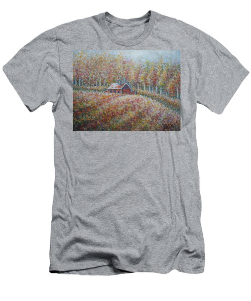 Men's T-Shirt (Slim Fit) featuring the painting Autumn Whisper. by Natalie Holland
