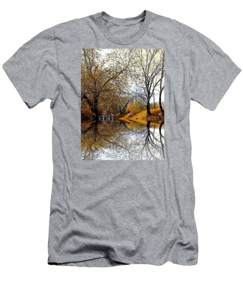 Men's T-Shirt (Slim Fit) featuring the photograph Autumnal by Elfriede Fulda