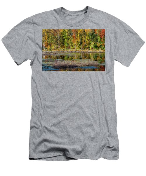 Men's T-Shirt (Slim Fit) featuring the photograph Autumns Quiet Moment by Karol Livote