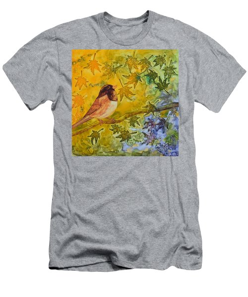Men's T-Shirt (Slim Fit) featuring the painting Autumn's Song by Nancy Jolley