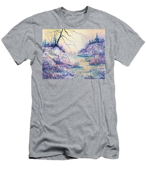 Autumnscape In Purple Men's T-Shirt (Slim Fit) by Carolyn Rosenberger