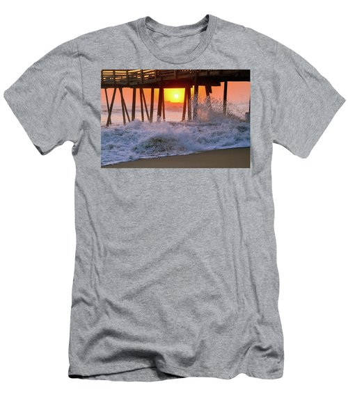 Avalon Fishing Pier Sunrise Men's T-Shirt (Athletic Fit)