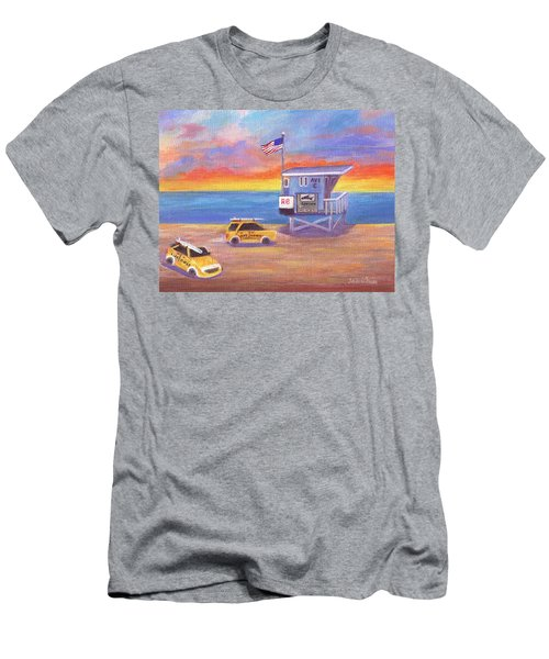 Men's T-Shirt (Athletic Fit) featuring the painting Avenue C by Jamie Frier