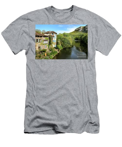 Aveyron River In Saint-antonin-noble-val Men's T-Shirt (Slim Fit) by RicardMN Photography
