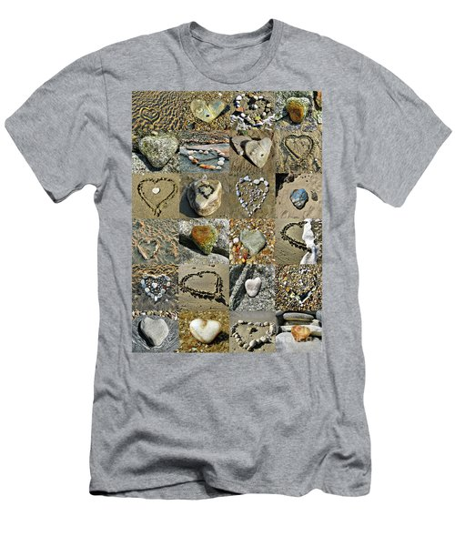 Awesome Hearts Found In Nature - Valentine S Day Men's T-Shirt (Athletic Fit)
