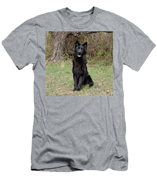 Men's T-Shirt (Slim Fit) featuring the photograph Aziza Sitting by Sandy Keeton