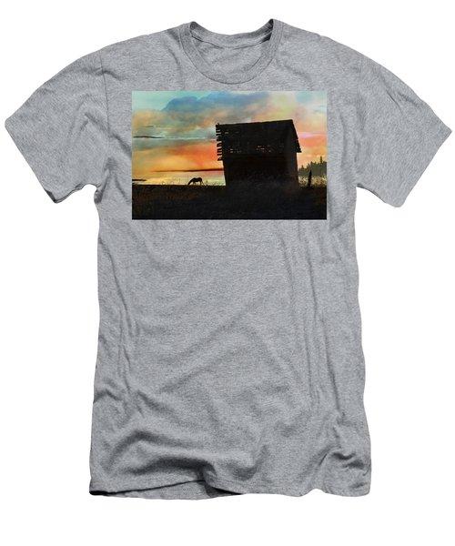 B. C. Barn # 1672 Men's T-Shirt (Slim Fit) by Ed Hall
