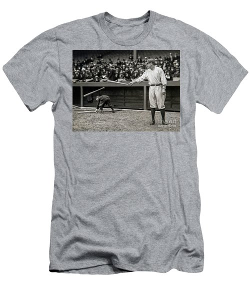 Babe Ruth At Bat Men's T-Shirt (Slim Fit) by Jon Neidert