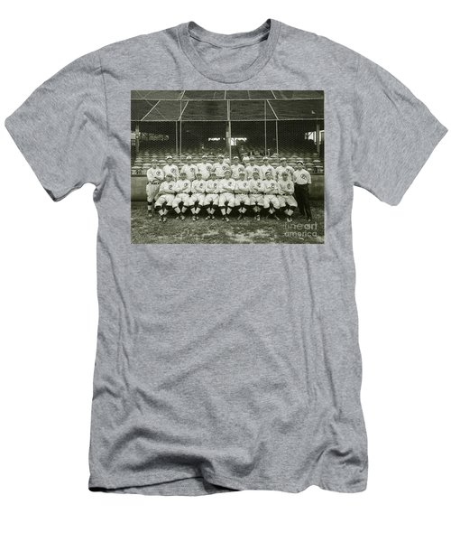 Babe Ruth Providence Grays Team Photo Men's T-Shirt (Slim Fit) by Jon Neidert