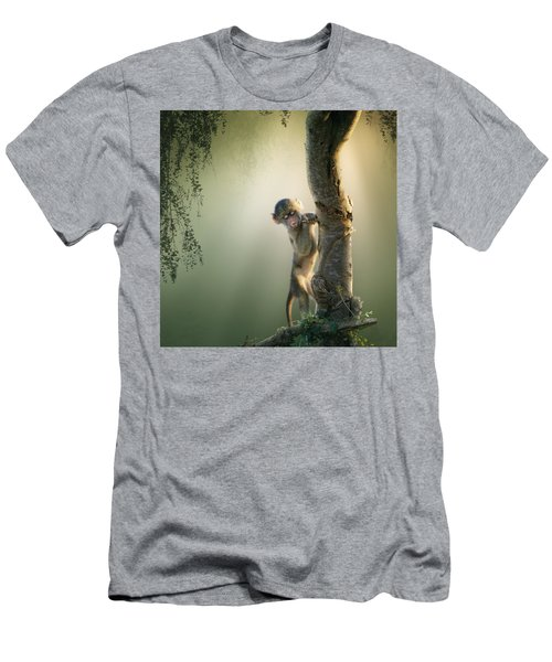 Baby Baboon In Tree Men's T-Shirt (Athletic Fit)