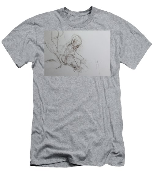Baby, Drawing With Mother Men's T-Shirt (Athletic Fit)